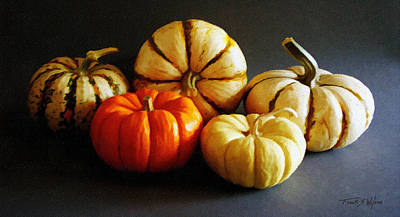 Photograph - Autumn Gourds by Frank Wilson