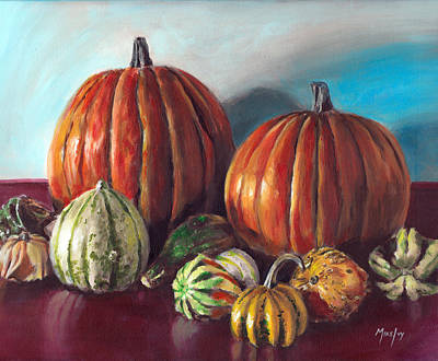 Painting - Autumn Gourds by Michael Ivy