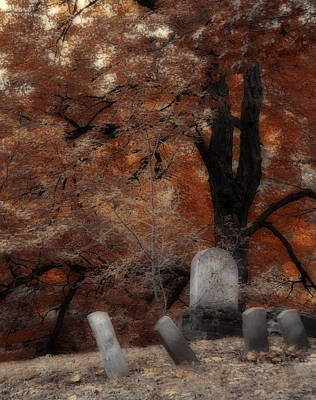 Fall Scenes Photograph - Autumn Graveyard by Gothicrow Images