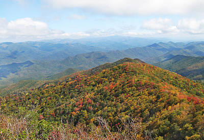 Photograph - Autumn Great Smoky Mountains by Melinda Fawver