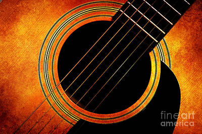 Photograph - Autumn Guitar by Andee Design