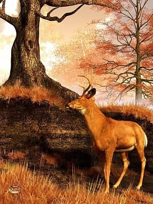 Autumn Hart Art Print by Daniel Eskridge