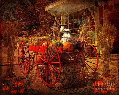 Pumpkin Digital Art - Autumn Harvest At Brewster General by Lianne Schneider
