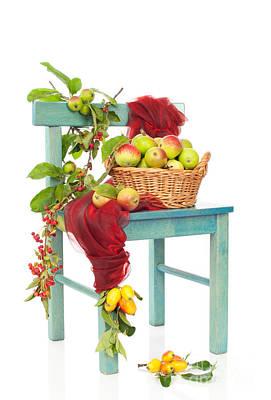 Crab Basket Photograph - Autumn Harvest Chair by Amanda Elwell