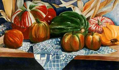 Painting - Autumn Harvest by Eve Riser Roberts