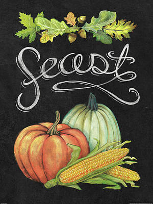 Corn Painting - Autumn Harvest II by Mary Urban