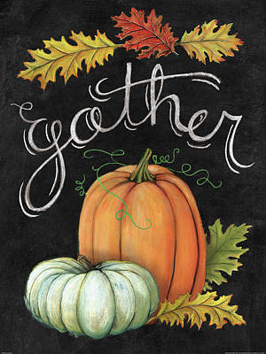 Pumpkins Painting - Autumn Harvest IIi by Mary Urban