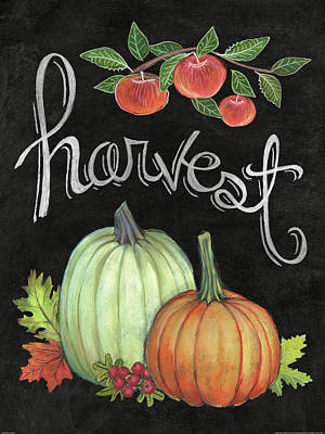 Pumpkins Painting - Autumn Harvest Iv by Mary Urban