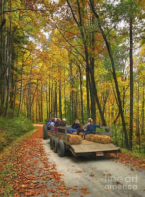 Hay Ride Photograph - Autumn Hay Ride by Dan Carmichael