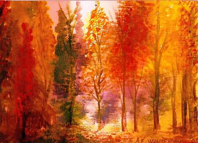 Autumn Hideaway Revisited Print by Anne-Elizabeth Whiteway