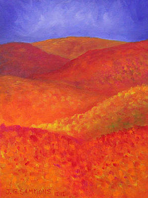 Autumn Hills Art Print by Janet Greer Sammons