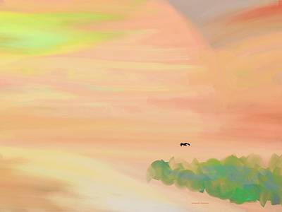 Autumn Hills Art Print by Lenore Senior