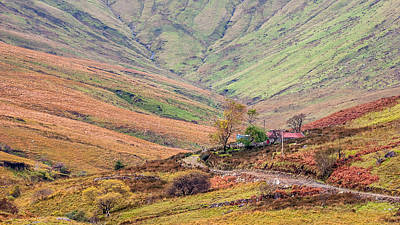 Photograph - Autumn Hillside Cottage Ireland by Pierre Leclerc Photography