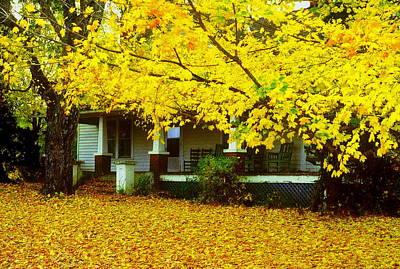 Art Print featuring the photograph Autumn Homestead by Rodney Lee Williams