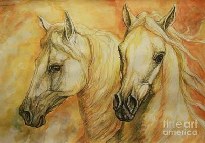 Silvana Gabudean Art Painting - Autumn Horses by Silvana Gabudean Dobre