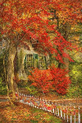 Autumn - House - Festive - Van Gogh Art Print by Mike Savad