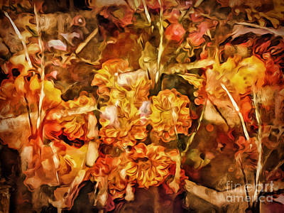 Flower Abstract Mixed Media - Autumn Impression Abstract by Lutz Baar