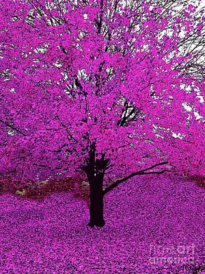 Photograph - Pink Or Purple Tree Impressions #6 Pink by Saundra Myles