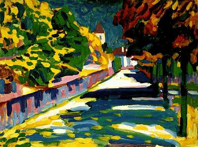 Autumn In Bavaria Art Print by Wassily Kandinsky