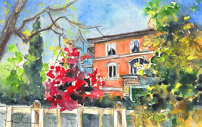 Painting - Autumn In Bergamo 01 by Miki De Goodaboom