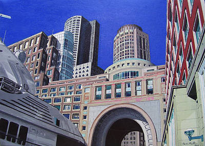 City Scape Painting - Autumn In Boston by Kevin Martin