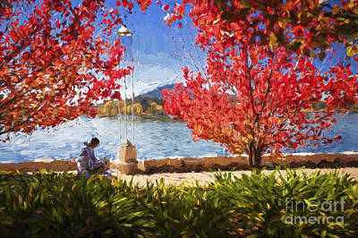 Impressionism Photos - Autumn in Canberra by Sheila Smart Fine Art Photography