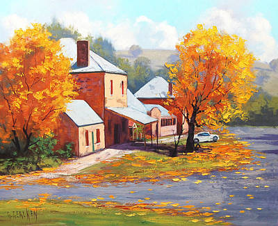 Fiery Red Painting - Autumn In Carcor by Graham Gercken