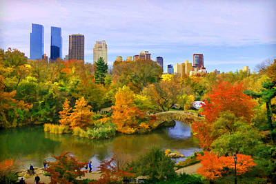 Photograph - Autumn In Central Park 4 by Allen Beatty