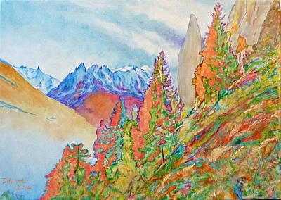 Chamonix Painting - Autumn In Chamonix Valley by Danielle Arnal