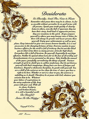 Autumn In Florence Desiderata Poster Art Print by Desiderata Gallery