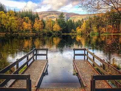 Glencoe Photograph - Autumn In Glencoe Lochan by Dave Bowman