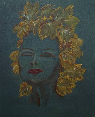 Art Print featuring the painting Autumn In Her Colors by Brindha Naveen