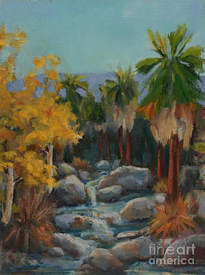 Cottonwood Painting - Indian Canyon After The Rain by Maria Hunt