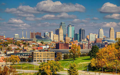 Autumn In Kansas City Art Print
