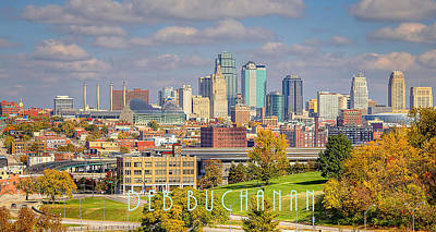 Autumn In Kansas City With Logo Art Print