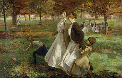 Painting - Autumn In Kensington Gardens by James Wallace
