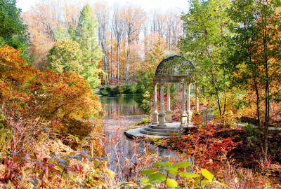 Digital Art - Autumn In Longwood Gardens by Trina  Ansel