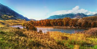 Montana Digital Art - Autumn In Montana by Thomas Woolworth