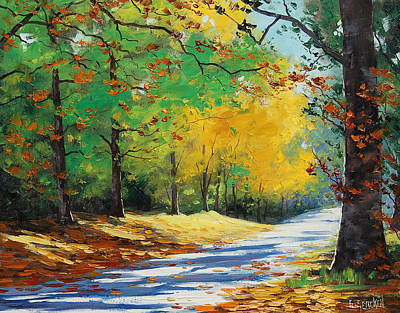 Birch Tree Painting - Autumn In Mt Wilson by Graham Gercken