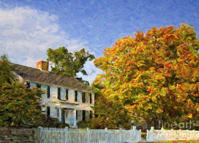 Digital Art - Autumn In New England by Liz Leyden
