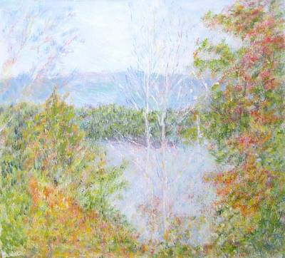 Painting - Autumn By The Lake In New Hampshire by Glenda Crigger