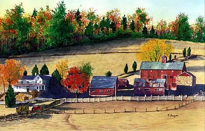 Painting - Autumn In New Jersey by Norman Freyer
