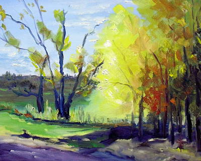 Painting - autumn in NY by Jodie Marie Anne Richardson Traugott          aka jm-ART