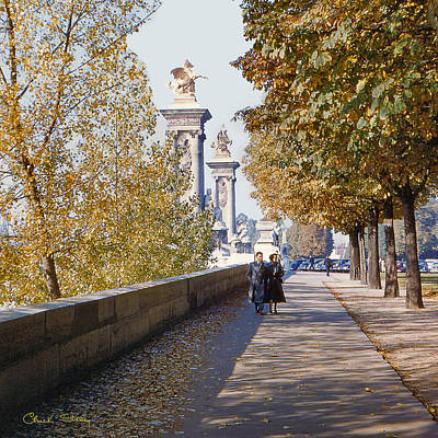 Photograph - Autumn In Paris - 1954 by Chuck Staley