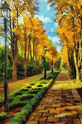 Painting - Autumn In Public Gardens by Jeffrey Kolker