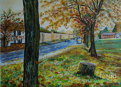 Autumn In South Road - Painting Art Print by Veronica Rickard