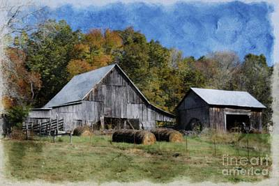 Tennessee Hay Bales Photograph - Autumn In Tennessee by Benanne Stiens