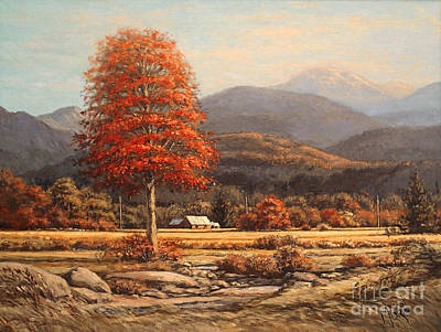 Contemporain Art Painting - Autumn In The Appalaches by Pierre Morin