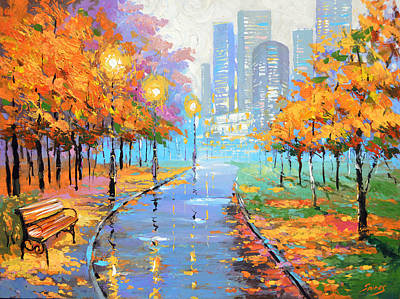 Autumn In The Big City Art Print