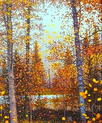 Northwoods Painting - Autumn In The Buckboards Near Itasca by Mike DeWitt